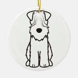 Soft Coated Wheaten Terrier Dog Cartoon Round Ceramic Decoration