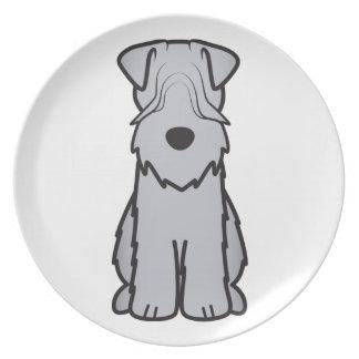 Soft Coated Wheaten Terrier Dog Cartoon Dinner Plate