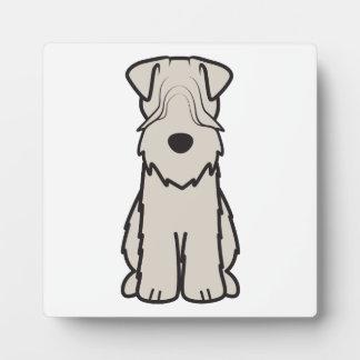 Soft Coated Wheaten Terrier Dog Cartoon Display Plaque