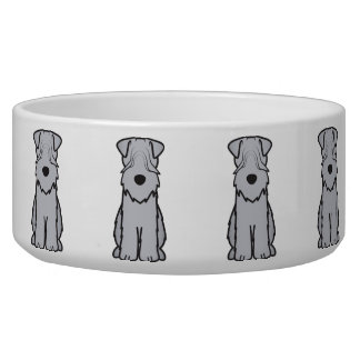 Soft Coated Wheaten Terrier Dog Cartoon Dog Food Bowl