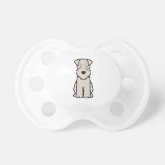 Soft Coated Wheaten Terrier Dog Cartoon Pacifiers