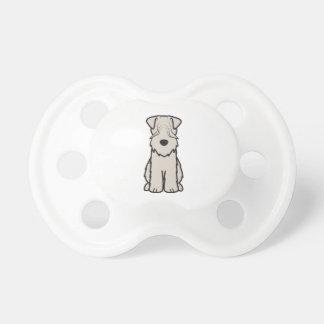 Soft Coated Wheaten Terrier Dog Cartoon Baby Pacifier