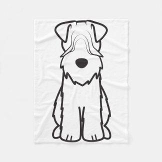 Soft Coated Wheaten Terrier Dog Cartoon Fleece Blanket