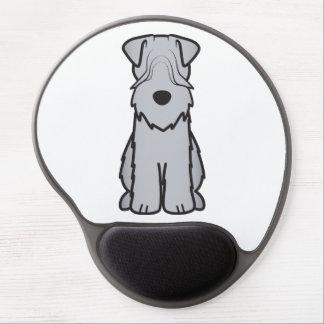 Soft Coated Wheaten Terrier Dog Cartoon Gel Mouse Pad