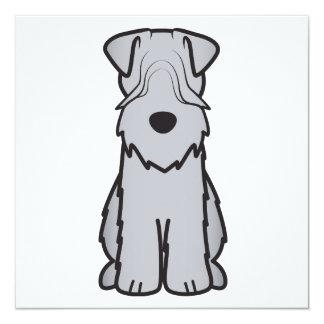 Soft Coated Wheaten Terrier Dog Cartoon 13 Cm X 13 Cm Square Invitation Card