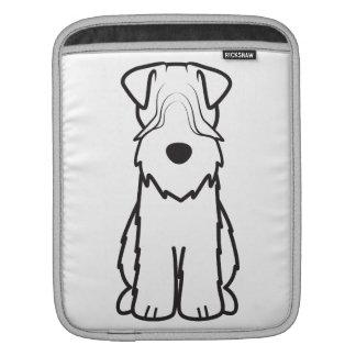 Soft Coated Wheaten Terrier Dog Cartoon Sleeves For iPads