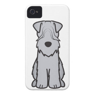 Soft Coated Wheaten Terrier Dog Cartoon iPhone 4 Cover