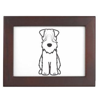 Soft Coated Wheaten Terrier Dog Cartoon Keepsake Box