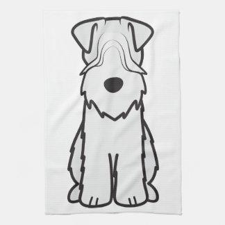 Soft Coated Wheaten Terrier Dog Cartoon Kitchen Towel