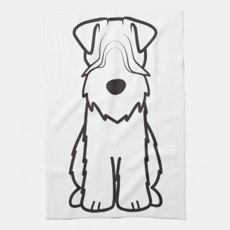 Soft Coated Wheaten Terrier Dog Cartoon Kitchen Towels