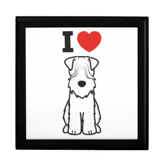 Soft Coated Wheaten Terrier Dog Cartoon Large Square Gift Box