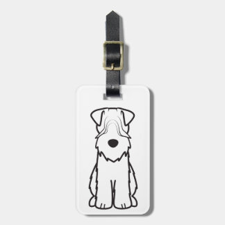 Soft Coated Wheaten Terrier Dog Cartoon Travel Bag Tag