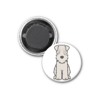 Soft Coated Wheaten Terrier Dog Cartoon Magnet