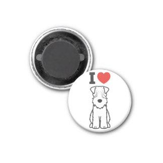 Soft Coated Wheaten Terrier Dog Cartoon 3 Cm Round Magnet