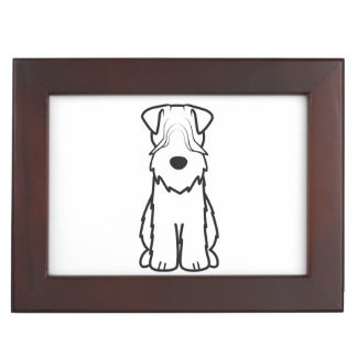 Soft Coated Wheaten Terrier Dog Cartoon Memory Box
