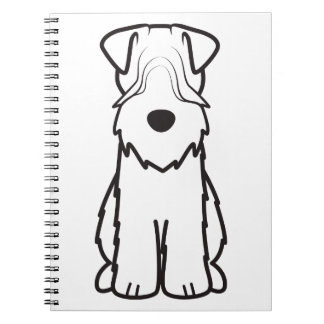 Soft Coated Wheaten Terrier Dog Cartoon Note Books