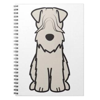 Soft Coated Wheaten Terrier Dog Cartoon Notebooks