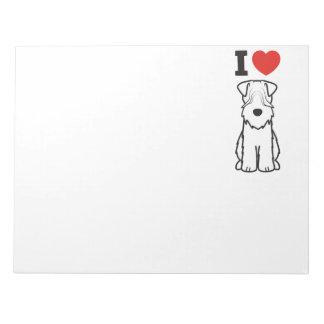 Soft Coated Wheaten Terrier Dog Cartoon Scratch Pads