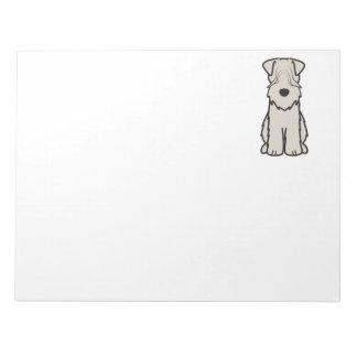 Soft Coated Wheaten Terrier Dog Cartoon Notepads