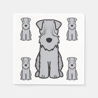 Soft Coated Wheaten Terrier Dog Cartoon Paper Napkin