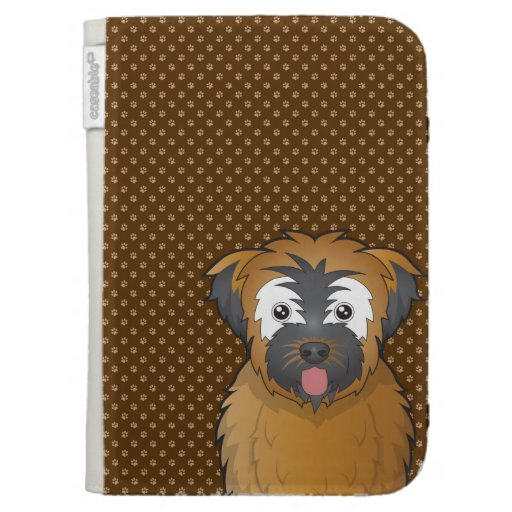 Soft Coated Wheaten Terrier Dog Cartoon Paws Kindle Keyboard Case