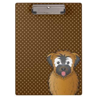 Soft Coated Wheaten Terrier Dog Cartoon Paws Clipboard