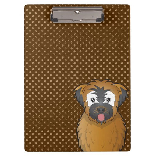 Soft Coated Wheaten Terrier Dog Cartoon Paws Clipboards