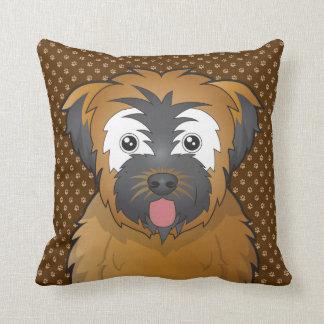 Soft Coated Wheaten Terrier Dog Cartoon Paws Cushions