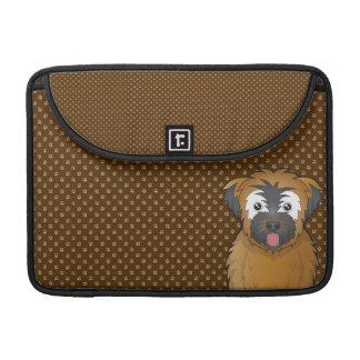 Soft Coated Wheaten Terrier Dog Cartoon Paws MacBook Pro Sleeves