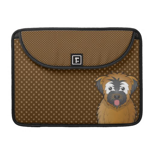 Soft Coated Wheaten Terrier Dog Cartoon Paws MacBook Pro Sleeves