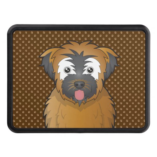 Soft Coated Wheaten Terrier Dog Cartoon Paws Hitch Cover