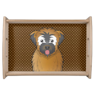 Soft Coated Wheaten Terrier Dog Cartoon Paws Service Tray