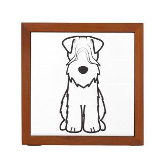 Soft Coated Wheaten Terrier Dog Cartoon Pencil/Pen Holder