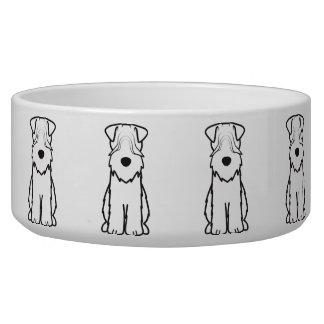 Soft Coated Wheaten Terrier Dog Cartoon Dog Bowl