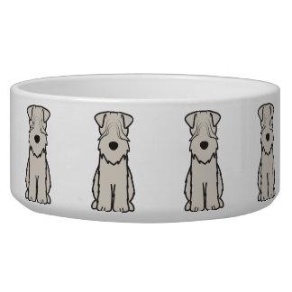 Soft Coated Wheaten Terrier Dog Cartoon Pet Bowls