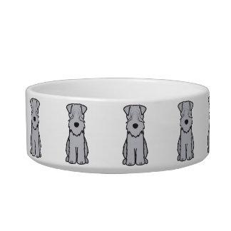 Soft Coated Wheaten Terrier Dog Cartoon Cat Bowls
