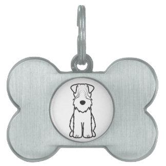 Soft Coated Wheaten Terrier Dog Cartoon Pet ID Tag
