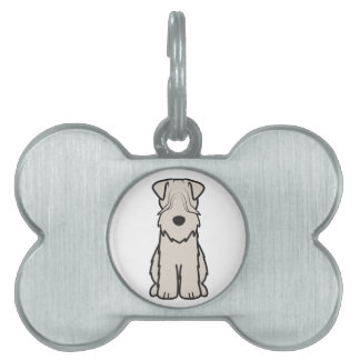 Soft Coated Wheaten Terrier Dog Cartoon Pet Tags