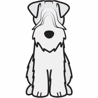 Soft Coated Wheaten Terrier Dog Cartoon Standing Photo Sculpture