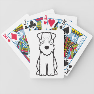 Soft Coated Wheaten Terrier Dog Cartoon Playing Cards