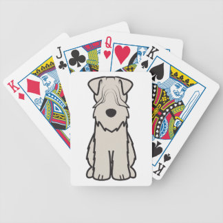 Soft Coated Wheaten Terrier Dog Cartoon Bicycle Card Deck