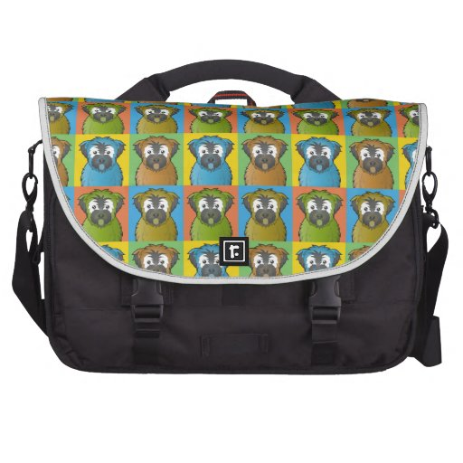 Soft Coated Wheaten Terrier Dog Cartoon Pop-Art Laptop Bag