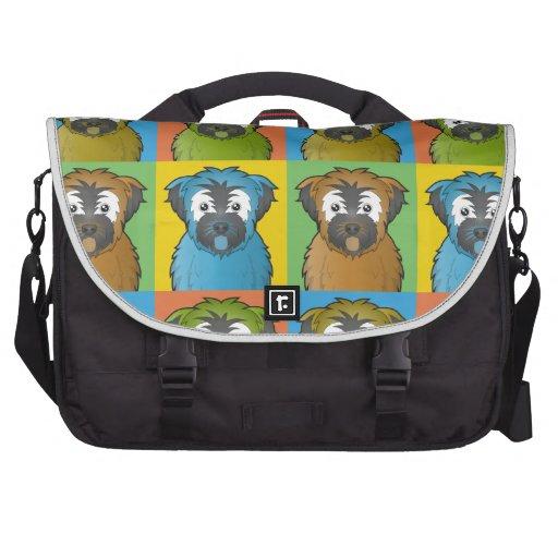 Soft Coated Wheaten Terrier Dog Cartoon Pop-Art Computer Bag