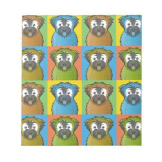 Soft Coated Wheaten Terrier Dog Cartoon Pop-Art Notepad