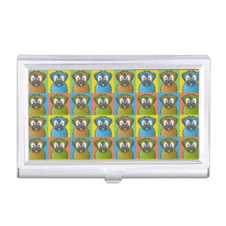 Soft Coated Wheaten Terrier Dog Cartoon Pop-Art Business Card Cases