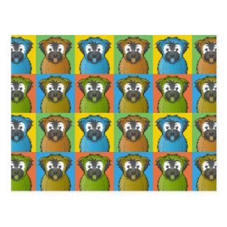 Soft Coated Wheaten Terrier Dog Cartoon Pop-Art Postcards
