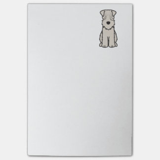 Soft Coated Wheaten Terrier Dog Cartoon Post-It Notes