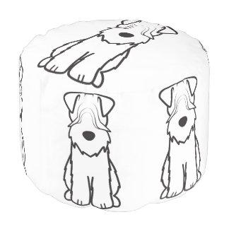 Soft Coated Wheaten Terrier Dog Cartoon Pouf