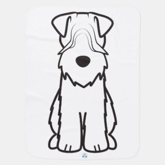 Soft Coated Wheaten Terrier Dog Cartoon Receiving Blankets