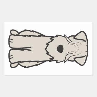 Soft Coated Wheaten Terrier Dog Cartoon Rectangular Sticker